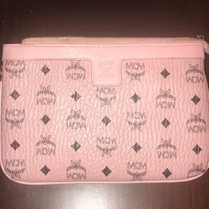 Pink MCM Pouch